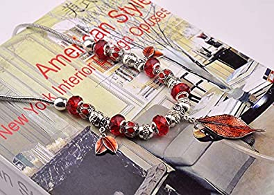 JUST N1 Sterling Silver Handmade Snake Chain Beaded Crystal Choker Necklace for Women AMZ60037-02