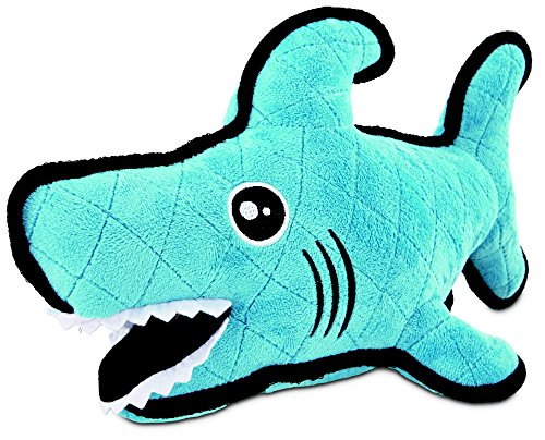 (Leaps & Bounds Playtime Pal Tough Shark Dog Toy, Large)