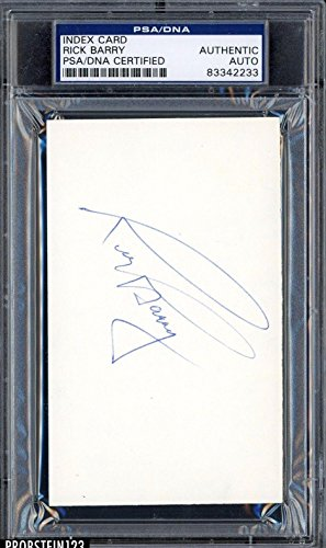 Rick Barry Signed Index Card Authentic AUTO Autograph - PSA/DNA Certified - NBA Cut Signatures (Index Card Signature Autograph)