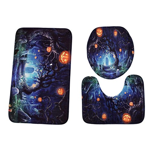 CYCTECH Happy Halloween Style 3pcs Bathroom