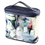 HOYOFO Transparent Travel Toiletry Bag Clear PVC Cosmetics and Toiletries Organizer Bag for Men and Women