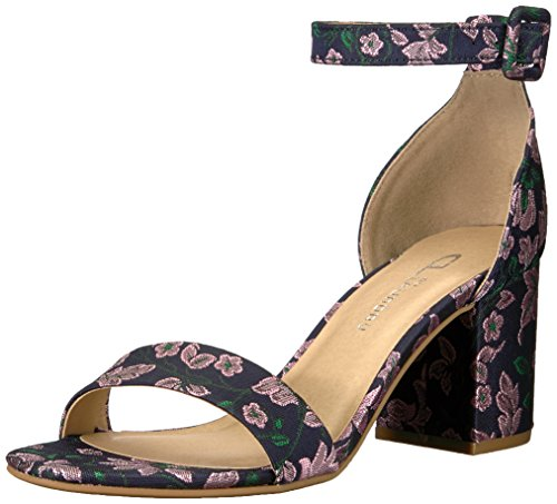 - CL by Chinese Laundry Women's Jody Heeled Sandal, Navy Brocade, 6.5 M US