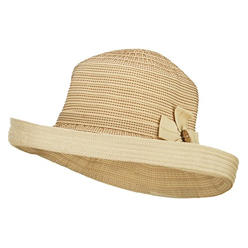 Women's Designed Crushable Sun Hat - Tan OSFM
