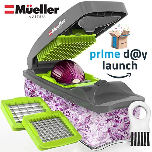 (Mueller Onion Chopper Pro Vegetable Chopper - Strongest - NO MORE TEARS 30% Heavier Duty Multi Vegetable-Fruit-Cheese-Onion Chopper-Dicer-Kitchen Cutter)
