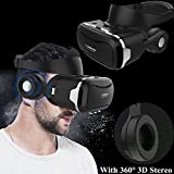 3D Virtual Reality Headset, Tsanglight VR Headset/Glasses with Built-in 3D Headphones for 4.5-6.0'' Android/IOS for Samsung Galaxy S7 Edge S6, iPhone 7 6 6S Plus etc