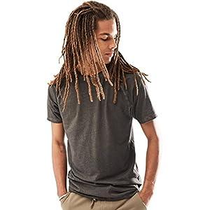 Rebel Canyon Young Men's Short Sleeve Vintage Wash Longline T-Shirt Small True Black