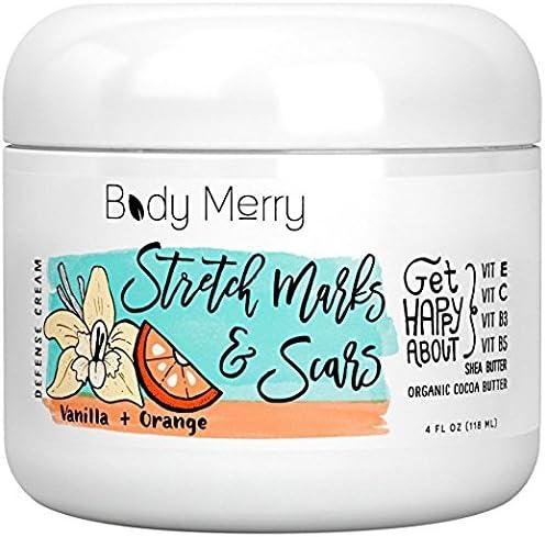 Body Merry Estrías y cicatriz crema - vainilla naranja - Natural y orgánico para el embarazo