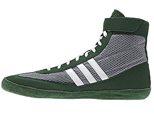 Adidas Wrestling Herren Combat Speed �? Wrestling Schuh Grau / Dunkelgrün / Weiß