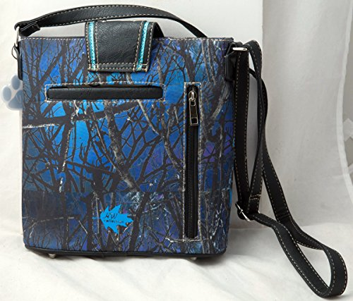 Handbag Carry HW Crossbody Western Concealed Collection Bag Messenger Blue Buckle Camouflage Camo Rhinestone q0zwqp