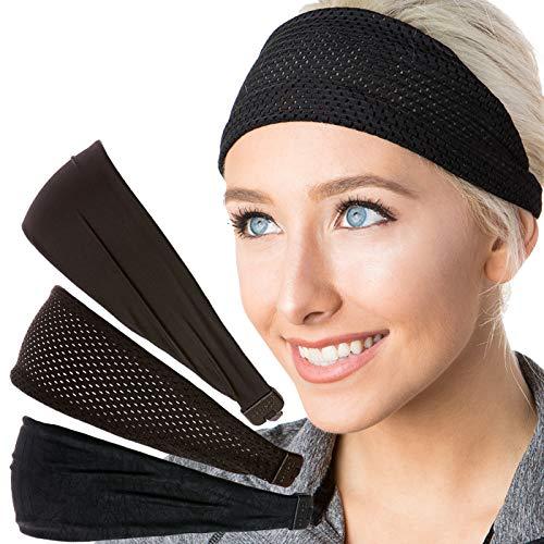 - Hipsy Adjustable & Stretchy Basic Xflex Wide Headbands for Women Girls & Teens (Mixed Black Xflex Band 3pk)