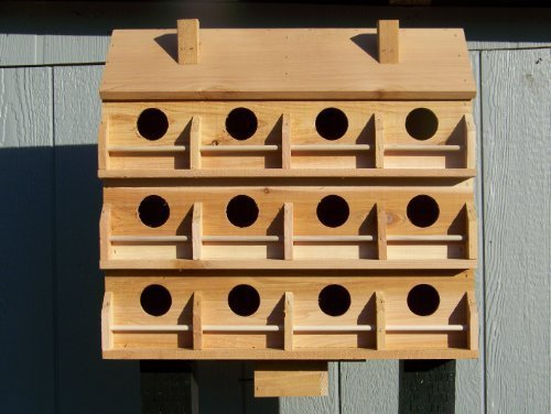Purple Martin Deluxe Birdhouse with 12 Seperate Compartments X -large by Cedarnest