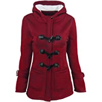 0d4308de1f940 KUDICO Womens Hoodie Coat Jacket Vintage Horn Buckle Solid Long Outerwear  Winter Warm Overcoat 6 Color