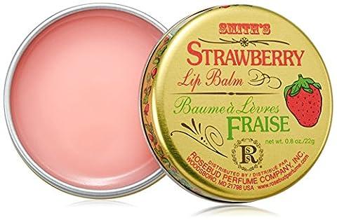Rosebud, Strawberry Lip Balm Tin, 0.8 Ounce - Rosebud Salve