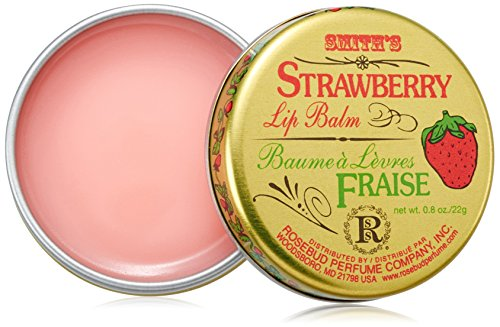 Rosebud, Strawberry Lip Balm Tin, 0.8 Ounce