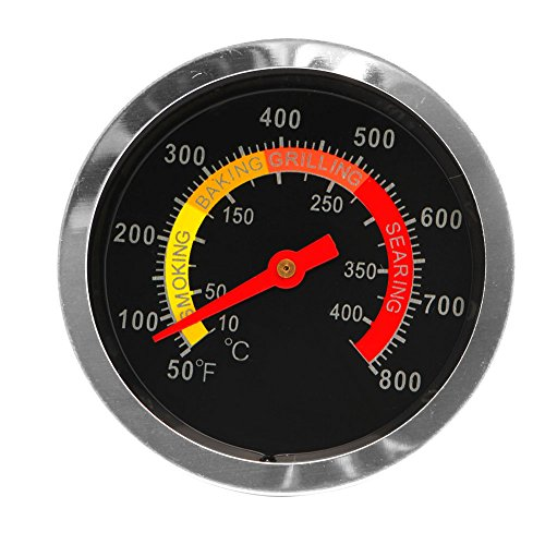 MEIYIN Stainless Steel Barbecue BBQ Smoker Grill Thermometer Temperature Gauge 10-400℃