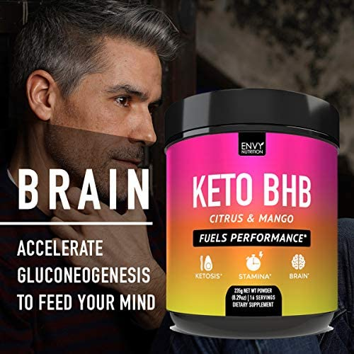 Keto BHB Citrus and Mango Powder - Fuels Performance -Exogenous Ketones (BHB) - Supports Ketosis, Metabolism, Improved Energy, and Mental Performance - 16 Servings 6