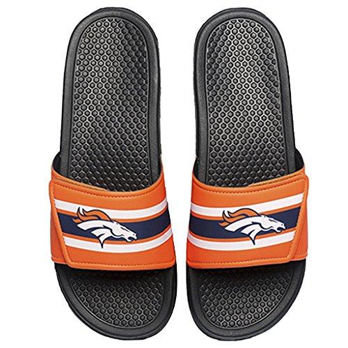 Denver Broncos NFL Mens Stripe Mens Legacy Sport Slide - S