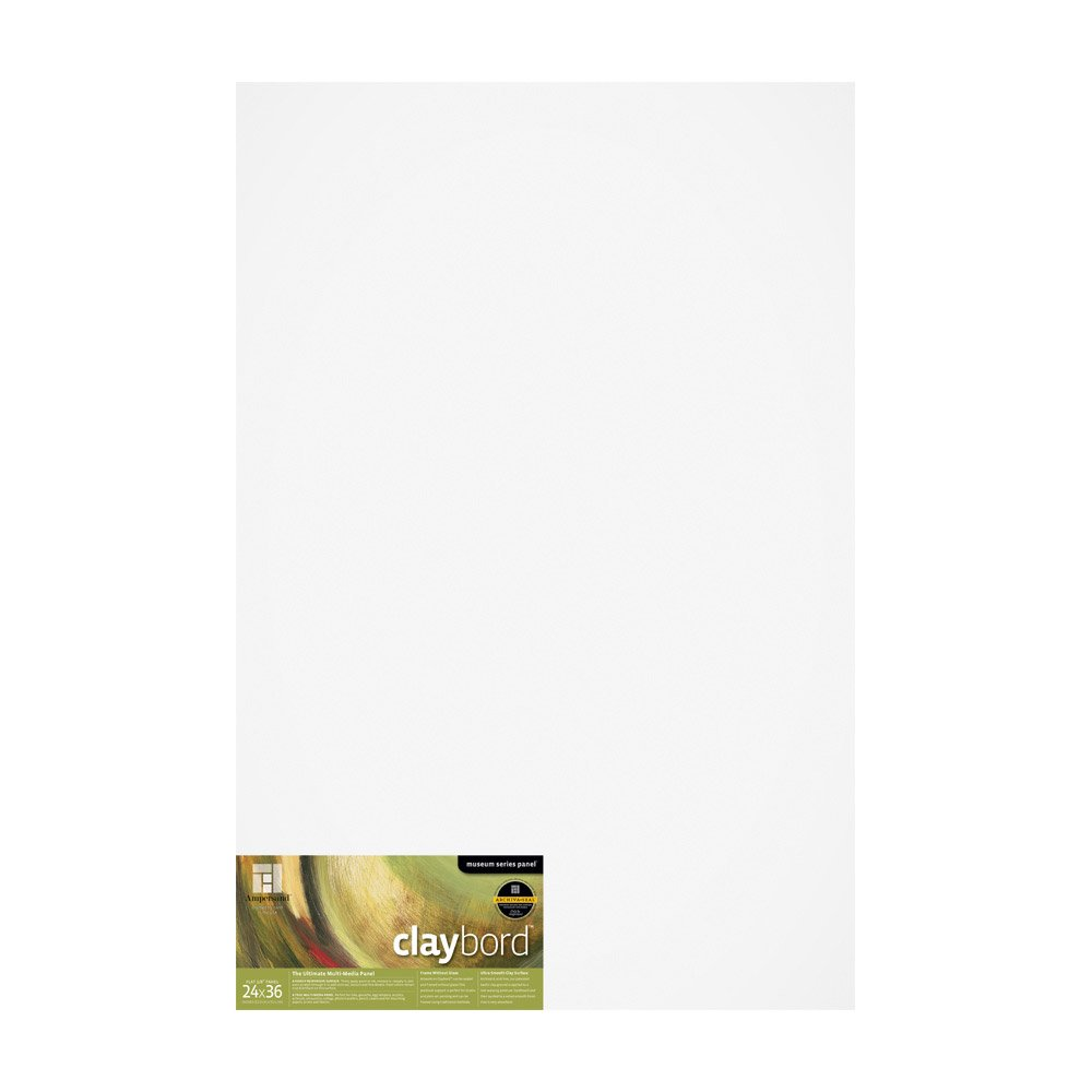 Ampersand Claybord 24 in. x 36 in. x 1/8'' each by Ampersand