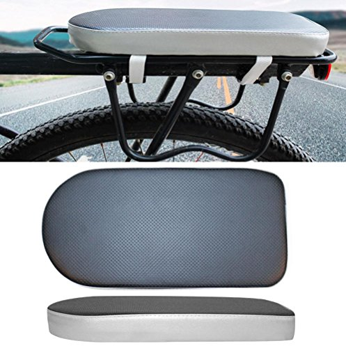 Quaanti New Comfortable Bike Bicycle Soft Cushion Seat Rear Rack for Adults Children Outdoor Sport Bag Bike Cycling Accessories (Black) (Rack Bicycle Rear Cushion)