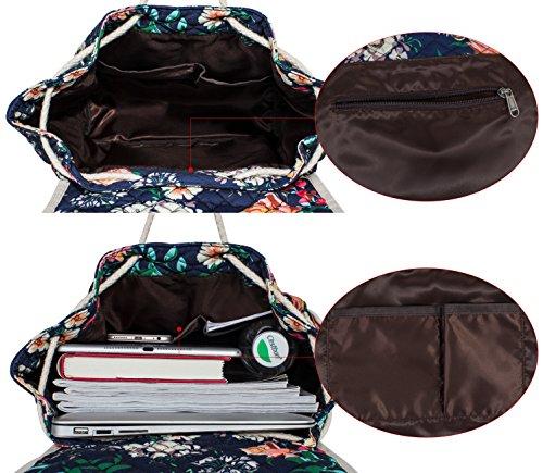 Backpack for Teenage Girls, Floral College Student School School Canvas Bag Knapsack by Hikker-Link (Image #3)