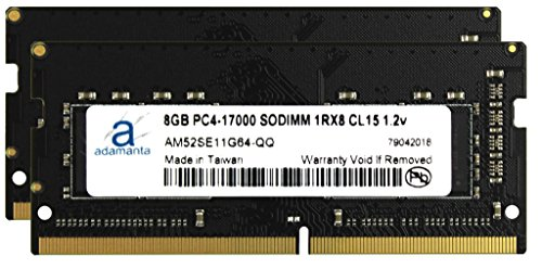 Adamanta 16GB (2x8GB) Laptop Memory Upgrade for Acer Aspire V 15 Nitro 7-592G-560W DDR4 2133 PC4-17000 SODIMM 1Rx8 CL15 1.2v Notebook RAM