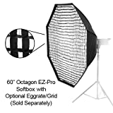 Fotodiox EZ-Pro Octagon Softbox 60'' with Speedring for Vivitar Flash DF-548, DF-293, DF-383, DF-283, 285, 285HV, 283 & more