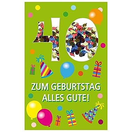 Susy Card 40010250 tarjeta de cumpleaños, 40 cumpleaños ...