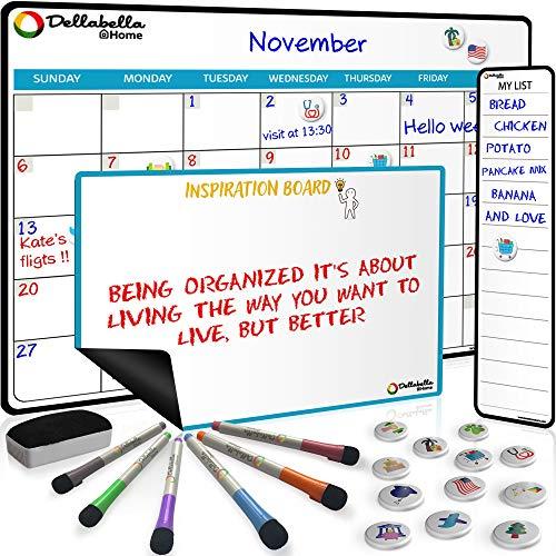 Magnetic Dry Erase Calendar Board for Fridge 17