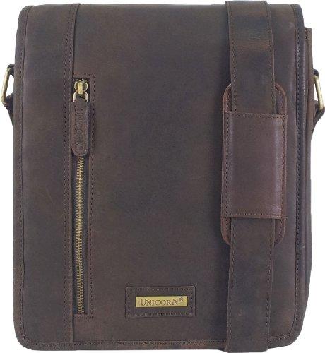 ou 6K Messager UNICORN Sac Brun Messenger Tablets Réel Ebook en Bag ipad cuir wYC76qnY