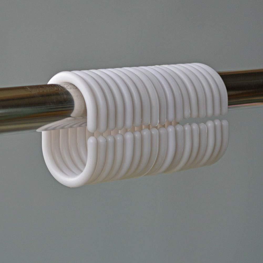 Tejido Cortina de Ducha Nanxin Anti-Moho Cortina de Ducha Incluye 12 Anillos de Cortina de Ba/ño con Tabla Per/íodica Impermeable