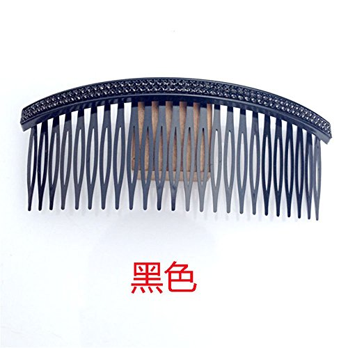 Casualfashion Women 24 Teeth Hair Comb Pin Clip Double Rows Rhinestone Hair Side Combs 472 Length 5 Count