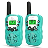 Toys for 3 Year Old Boys, Tisy Walkie Talkies for Kids Christmas Birthday Presents Gifts for 4-5 Year Old Boys Toys for 3-12 Year Old Girls Gifts for 3-6 Year Old Girls PMR446MHz 8 Channels Green TsUKDJT01