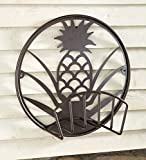Plow & Hearth Pineapple Metal Hose Holder - 22.75 L x 9.5 W x 22.75 H