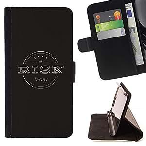 Momo Phone Case / Flip Funda de Cuero Case Cover - Gestión de Riesgos Negro Gris sello - Apple Iphone 5C