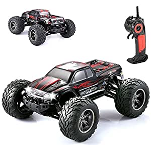 NextX 1/12 2WD 35+MPH Fast, High Speed Remote Control Off Road Monster Truck, Cars, Classic Toys, Rechargeable, Hobby Red