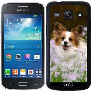Funda para Samsung Galaxy Core Plus (SM-G350) - Papillon Perro Lindo Retrato by Katho Menden
