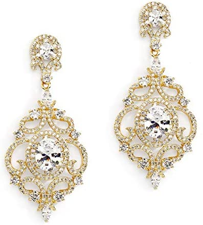 Mariell Victorian Zirconia Chandelier Earrings product image