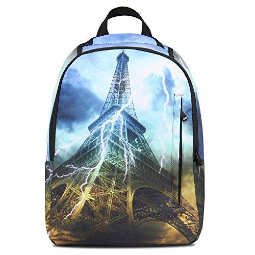 Hynes Eagle Cool Printed Kids School Backpack Effel Tower