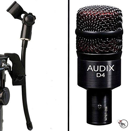 Audix Gooseneck - Audix D4 Hypercardioid Dynamic Microphone and DVice Gooseneck Mic Clip