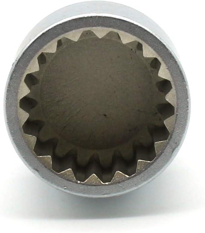 TEMO #54 Lugnut Removal Key for Porsche Car Anti-Theft Lug Nut Socket Kit Wheel Tire Lock Screw 3437