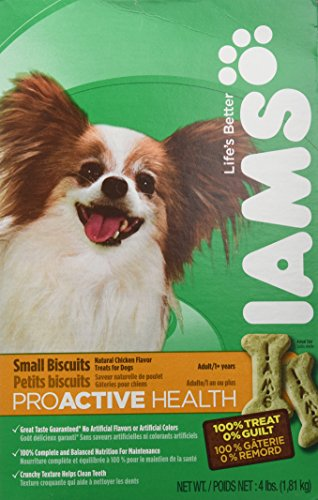 Biscuits 4lb Box (IamIams Small Biscuits Adult Dog, Chicken Flavor - 4)