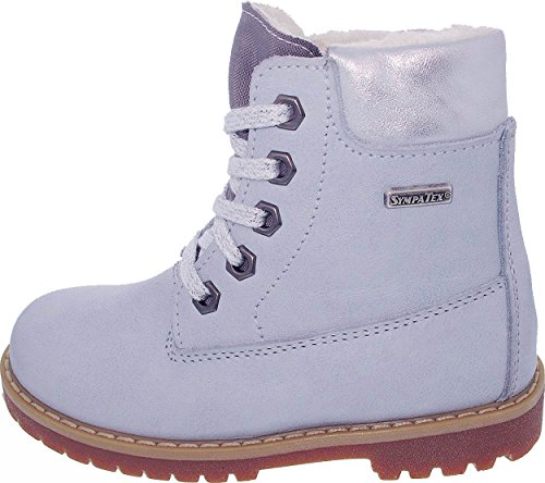 Däumling Kinderschuhe, Winterschuhe, hohe Schuhe, Lederschuhe hellblau (Fortuna cielo)