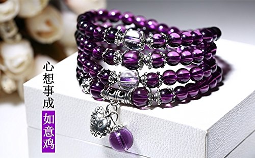 Generic Amethyst beads bracelet multi-turn zodiac animal year men and women bracelets Japan and South Korea jewelry birthday gift by Generic (Image #2)