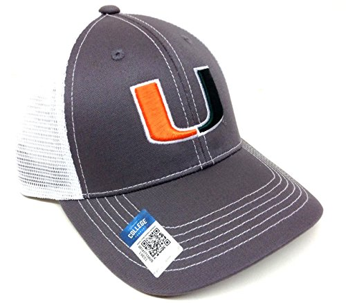 Grey Ghost UM Miami Hurricanes Mesh Trucker - Miami Hurricanes Jersey Baseball