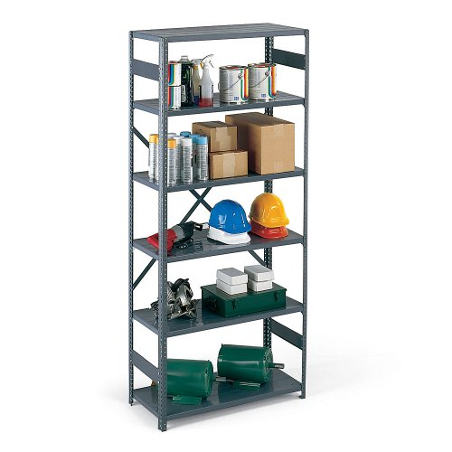 22 Gauge Steel Shelving (Edsal Open-Style Heviload Plus Ii Shelving - 22-Gauge Shelves - 36X12x85