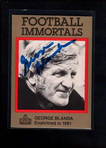 George Blanda Autographed Football - 6