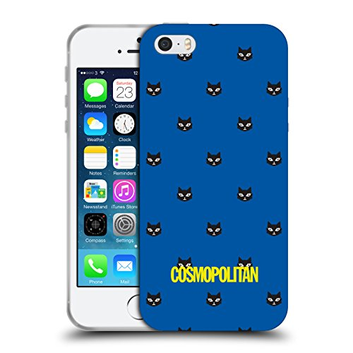 Official Cosmopolitan Blue Lovey The Cat Soft Gel Case for Apple iPhone 5 / 5s / SE