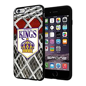 Los Angeles Kings 3 Goal NHL Logo WADE5068 iPhone 6+ 5.5 inch Case Protection Black Rubber Cover Protector