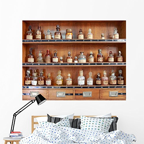 - Wallmonkeys Old Apothecary Wall Mural Peel and Stick Educational Graphics (60 in W x 46 in H) WM241014