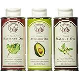 La Tourangelle Oils Gift Trio - Best Sellers - Roasted Walnut/Hazelnut/Avocado, 25 Ounce, Maroon